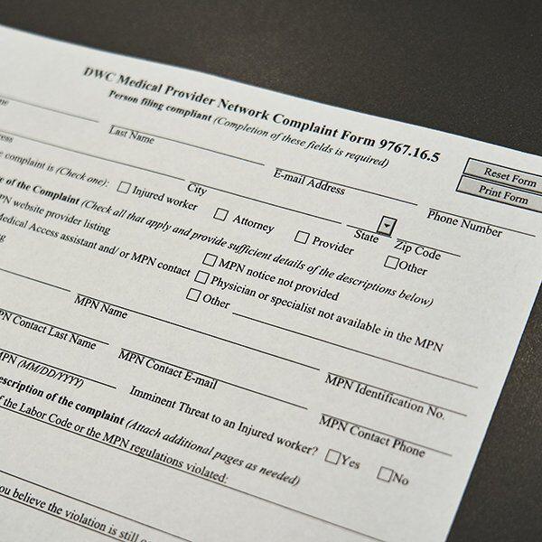 Workers' Compensation Medical Claim Medical Provider Network MPN