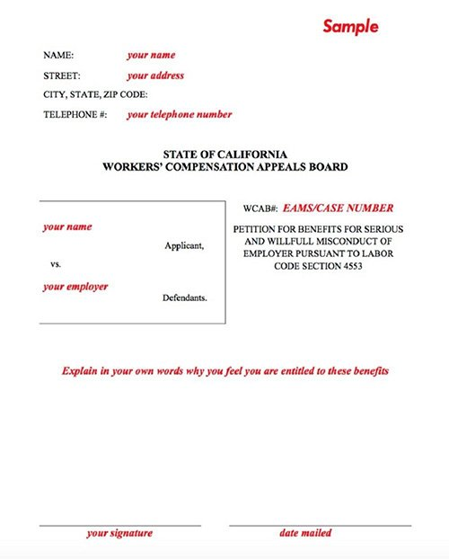 Filing a Workers' Compensation Claim Serious Willful